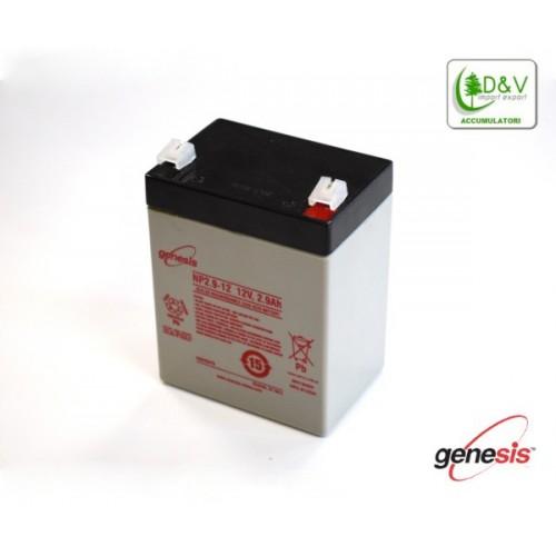 Batteria Genesis NP2.9-12 - 12V 2.9Ah