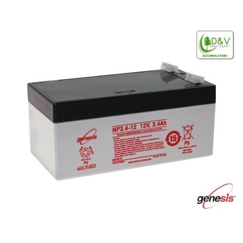 Batteria Genesis NP3.4-12 - 12V 3.4Ah