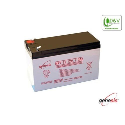 Batteria Genesis NP7-12 - 12V 7Ah