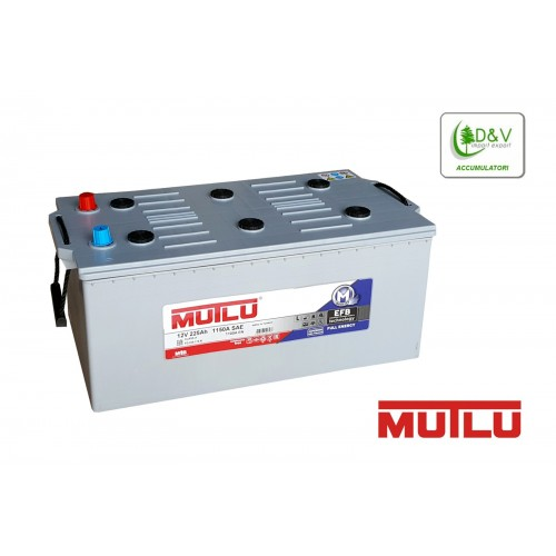 BATTERIA MUTLU 225Ah 1150A (EN) EFB 12V DEEP CYCLE FULL ENERGY