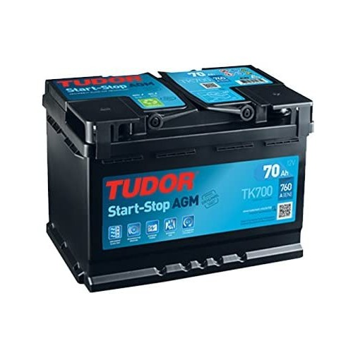 BATTERIA TUDOR AGM START STOP 70Ah 760A (EN)