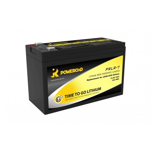 BATTERIA POWEROAD 8Ah LITHIUM DEEP CYCLE BATTERY LiFeP0