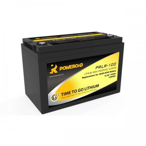 BATTERIA POWEROAD 100AH LITHIUM DEEP CYCLE BATTERY LIFEP04