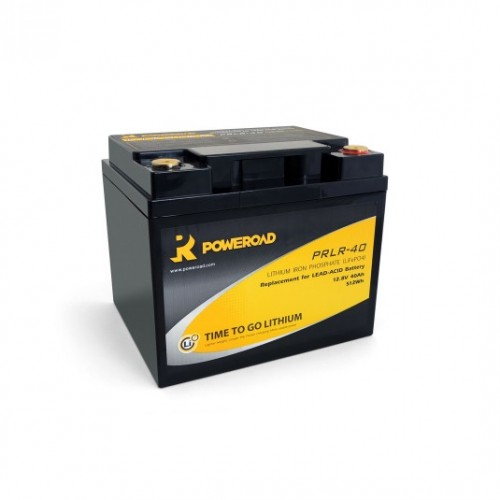 BATTERIA POWEROAD 40AH LITHIUM DEEP CYCLE BATTERY LIFEP04
