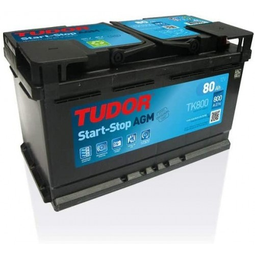 BATTERIA TUDOR AGM START STOP 80AH 760A (EN)