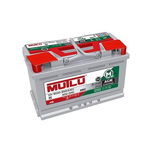 BATTERIA AUTO ORIGINALE MUTLU AGM 80Ah 850A (EN) 12V START STOP I IMPIANTO OEM